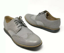 Cole Haan Mens Grand OS Leather Wingtip Oxford Shoes Gray Size 8