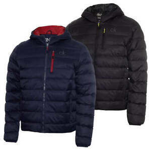 Calvin Klein Mens 2021 Woven Jacquard Padded Performance Jacket 50% OFF RRP