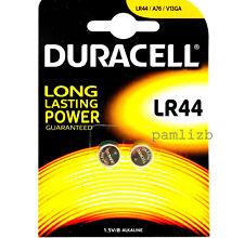 Duracell  LR44 AG13  1.5V  Alkaline batteries    x 2   battery    Expiry 2022