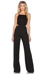 Oh My Love Open Back Black Jumpsuit, XS RRP £90