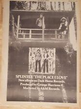Splinter il Metterlo i Love 1974 Premere Annuncio Full Page 26 x 38 cm Poster