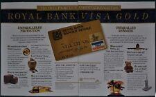 1994 Royal Bank VISA 2-page advertisement, Visa GOLD CARD, Canadian advert