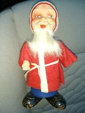 "Vintage (Very Rare) Felt German Santa Belsnickle 7 1/2"" Tall, Fur Beard"