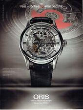 Publicité Advertising 127  2013  montre Oris translucent  Skeleton