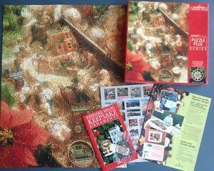 1988 Springbok Hallmark Keepsake Christmas Puzzle w/ Brass Ornament Complete