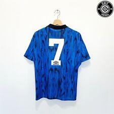 1992/93 CANTONA #7 Manchester United Vintage Umbro Away Football Shirt (S)