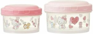Sanrio Hello Kitty nesting food storage container bento set of 2 made in Japan