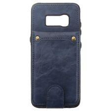 Voor Samsung Galaxy S8 Plus Wallet Cover + Case PU Leather Flip Shockproof Blauw