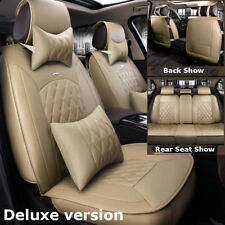 Beige Luxury Car Microfiber Leather Seat Covers For Nissan Altima Sentra Rogue