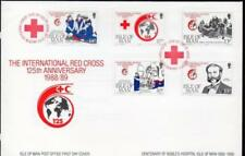 Red Cross First Day Covers Cross Postal Stamps