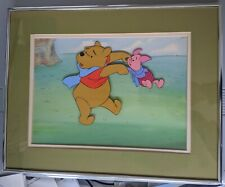 Winnie the Pooh Prod Cel Master Background Disney 1980's Educational Framed