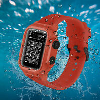 42/44mm Sport Silicone Strap For Apple Watch Series 4 Band IP68 Waterproof Case