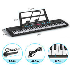 New Listing61-Key Keyboard Piano with Microphone & Music Stand Portable for Beginners