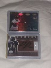 2002 Ed Reed Rookie Autos Bowmans Best and Upper Deck Sweet Spot