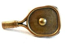 Vintage Solid Brass Badmitten Tennis Racket Belt Buckle