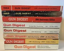 GUN DIGEST VINTAGE BOOK LOT of 8 - 1960's Through 1970's - MUST SEE!!!