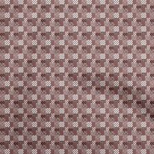 oneOone Cotton Flex Brown Fabric Floral Sewing Material Print Fabric-Dps
