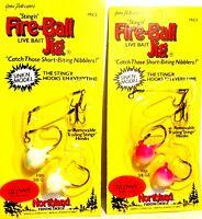 Northland Glow in Dark Sinking Fire-Ball Jig 3/8oz w/ Stinger Hooks (1-Package)