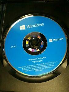 Microsoft Windows 10 Home 64 Bit DVD HOME Deutsch KEINE LIZENZ NUR MEDIUM