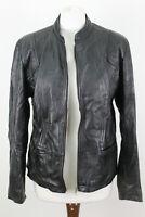 For Women Black Leather Jacket size Uk 14