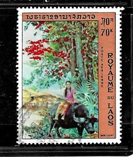 HICK GIRL- BEAUTIFUL USED LAOS STAMP    SC#C98  1972  ISSUE     E1028