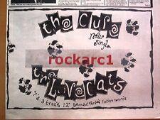 "CURE Lovecats 1983 UK Press ADVERT 12X8"""