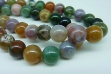 48 pce Natural Indian Agate Gemstone Beads 8mm Jewellery Making Craft