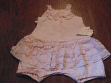 NWT NEW BOUTIQUE BABY BISCOTTI 3M 3 MONTHS PINK OUTFIT ROMPER