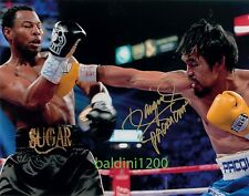 """MANNY """"PACMAN"""" PACQUIAO SIGNED 10X8 ACTION PHOTO, LOOKS GREAT FRAMED"""