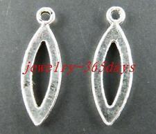 """200pcs Tibetan Silver """"eye"""" Shaped Charms 21x7mm 11758"""