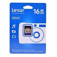Lexar 16GB SD Card SDHC C4 New Sealed