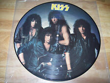 "RARE 1987 KISS Crazy Nights NEAR MINT  Bruce Kulick Eric Carr PICTURE 12"" LP NM"