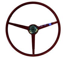 1966 Ford Mustang  3 Spoke Steering Wheel DARK RED - Golden Star