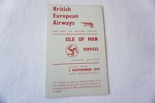 More details for 1947 bea isle of man services airline timetable schedule vgc