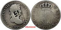 TRINIDAD ,HAITI 1826 S-JB 2 Reales Lattice Countermark & Large Dot ND 1841 KM# 5
