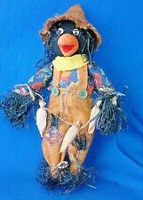 "13"" fabric scarecrow Halloween Thanksgiving figurine decoration loose"