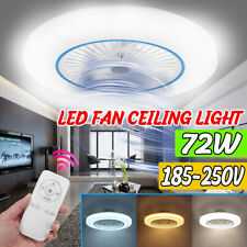 72W Ceiling Fan LED Light Modern Chandelier Living Room Bedroom Dimmable Remote