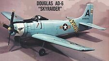 "Model Airplane Plans (RC): Douglas AD-6 Skyraider 1/8 Scale 75""ws for .61 Engine"