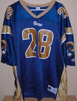 Los Angeles RAMS Marshall Faulk 28 CHAMPION Jersey St. Louis Rams size 52