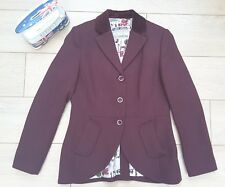 Tom Joules Harcombe cherry mulled red tweed wool hacking jacket blazer UK 12