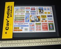 1980s Vintage Miniature Street & Vehicle Advertising Sheet. Cav'ndish London
