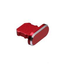 Anti Dust Plug Accesorios Cubierta de puerto del cargador para iPhone 6 7 8 XS 11 se Rojo X