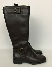 31feec3c2df Women s Aerosoles Trident Brown Knee-High Riding Boots Size 6
