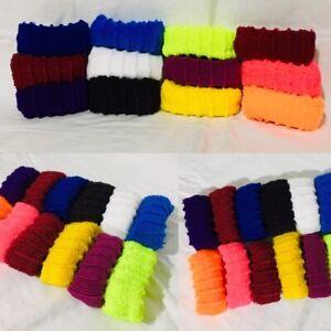 12 * Multi-Colors THICK Hair ELASTICS BOBBLES High Quality Endless Hair Bands