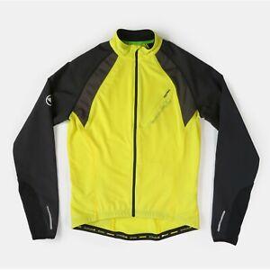 Endura MT500 Full Zip II Cycling Jersey Jacket Long Sleeve Yellow Black Men's S