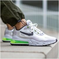 Nike Air Max 270 React Mens Size 12 Trainers Summit White Vast Grey Green Shoe