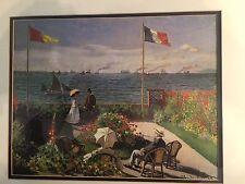 Claude Monet Lake Flowers Boat French Landscape gold Framed Art Print
