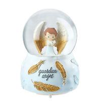 Home Decor Table Top Decorative Christmas Gift Musical Snow Globe Guardian Angel