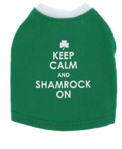 "Dog ~  Top Paw ~  St. Patrick's Day ""Keep Calm & Shamrock On"" ~ Pet Tee ~ S XL"