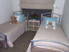 Silver Metal Beds & Mattresses
